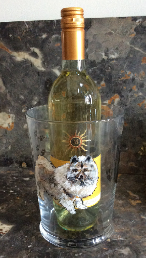 Dog Gifts- Dog Portraits-Wine Coolers